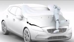 Volvo V40 external airbag